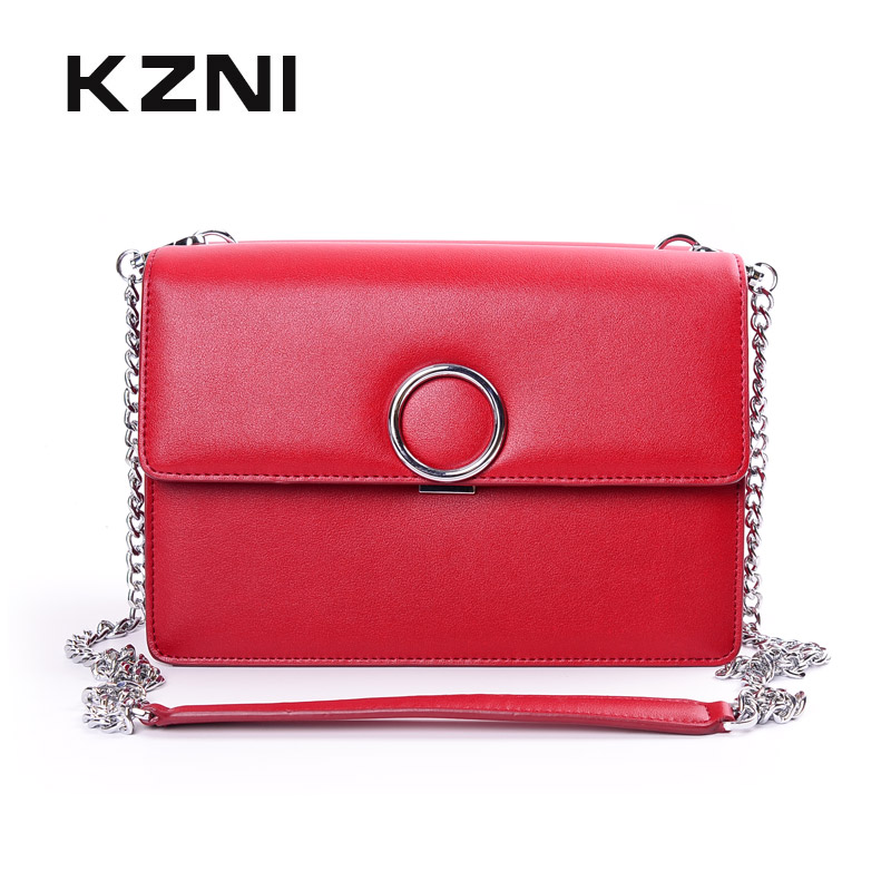 KZNI Genuine Leather Handbag Women Designer Handbags High Quality Phone Bag Purses and Handbags Pochette Sac a Main Femme 9022 kzni real leather tote bag high quality women leather handbags top handle bags purses and handbags bolsa feminina pochette 9057
