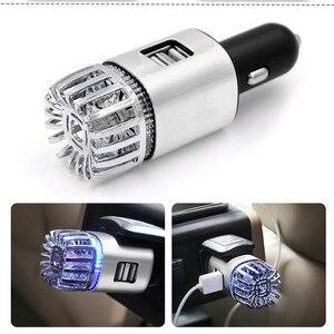 Image 3 - Purificateur dair frais 2 en 1 pour voiture, double USB, purificateur dair frais, barre doxygène, Ozone, générateur de fumée pour voitures, nettoyeur de voiture