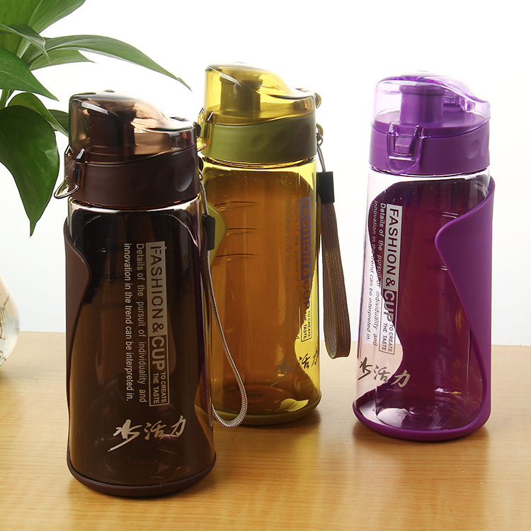 Creative Leakproof Belt Cover Plastic Sports Water Bottle High Quality Tour Hiking Portable My Favorite Drink Bottles(China)