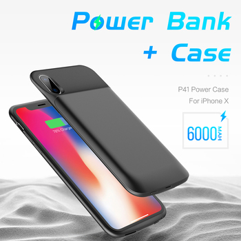 Battery Case For iPhone 7 6 6S X by ROCK