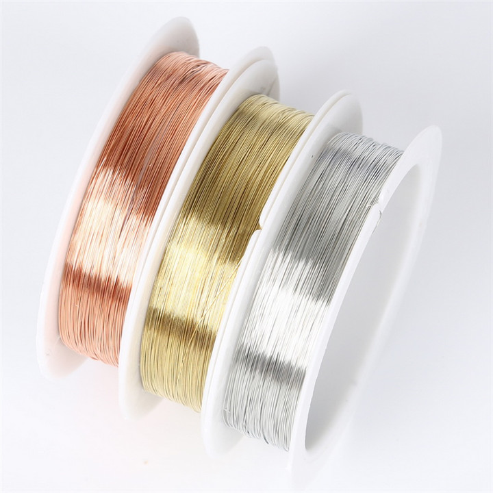 4 1 Roll DIY Copper Wire String Cord For Necklace Bracelet Jewelry Making Craft Beads Rope Copper Wires Beading Jewelry Finding 30