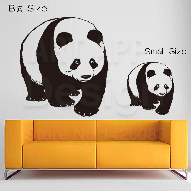 Nuevo diseño de Arte barato decoración del hogar PVC encantadora panda de China