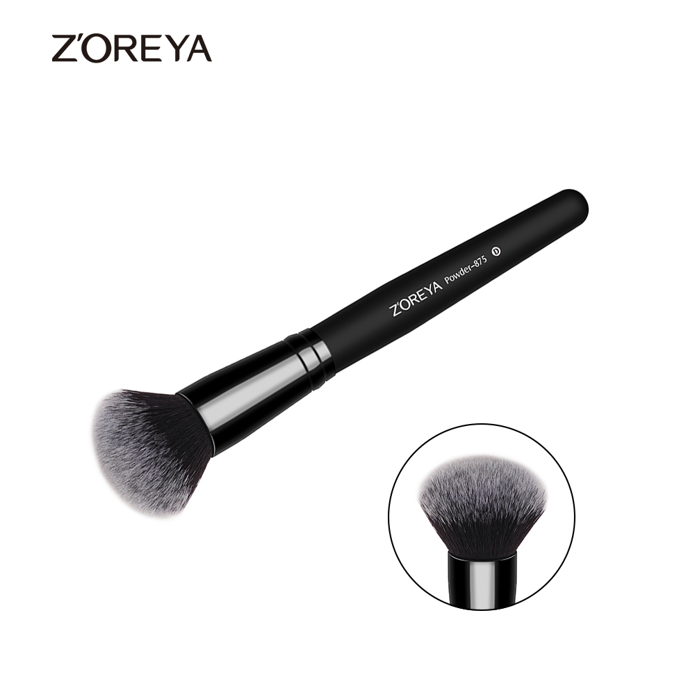 ZOREYA Maquiagem Professional Foundation Makeup Brush Wooden Soft Hair Round Powder Blush Make Up Brushes Cosmetic Tool Kits 8pcs rose gold makeup brushes eye shadow powder blush foundation brush 2pc sponge puff make up brushes pincel maquiagem cosmetic