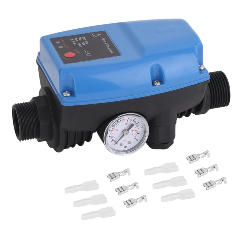 SKD-5 Electronic Water Pump Pressure Control Professional Automatic Pressure Control Switch With Pressure Gauge