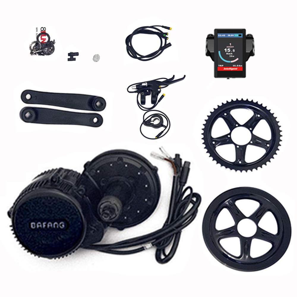 Bafang BBS02 48V 750W 8fun Mid Drive Motor Ebike bicycle Conversion Kit bicycle motor with Colour Display free shipping authentic bafang 36v 350w electric bicycle bbs01 mid crank drive motor kit ebike c965 color 850c lcd conhismotor