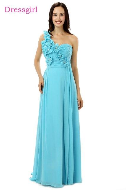 647e309c1ce New 2019 Cheap Bridesmaid Dresses Under 50 A-line One-shoulder Floor Length  Mint Green Chiffon Wedding Party Dresses