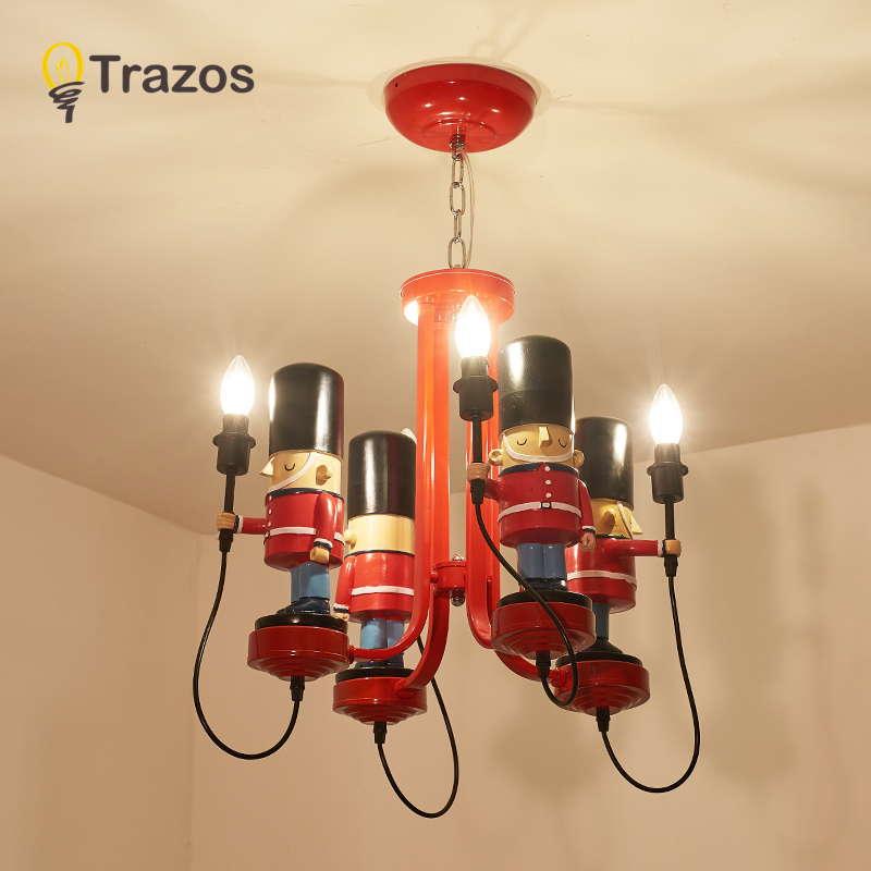 Qiseyuncai Nordic Country Style Childrens Room Chandelier Boy Girl Bedroom Modern Minimalist Wrought Iron Lamps Spare No Cost At Any Cost Ceiling Lights