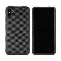 2019 New Case For iPhone X XS XR XS MAX Back Cover 3D Textured Carbon Fiber Case 360 Degree full Protection Shockproof Case