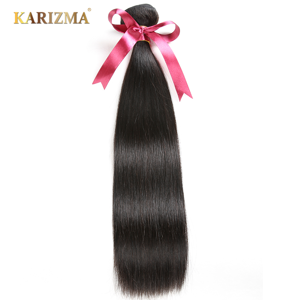Karizma Brazilian Straight Hair Bundles 100% Human Hair Weave Natural Black Hair Extension Can Be Dyed And Bleached Non Remy 1PC