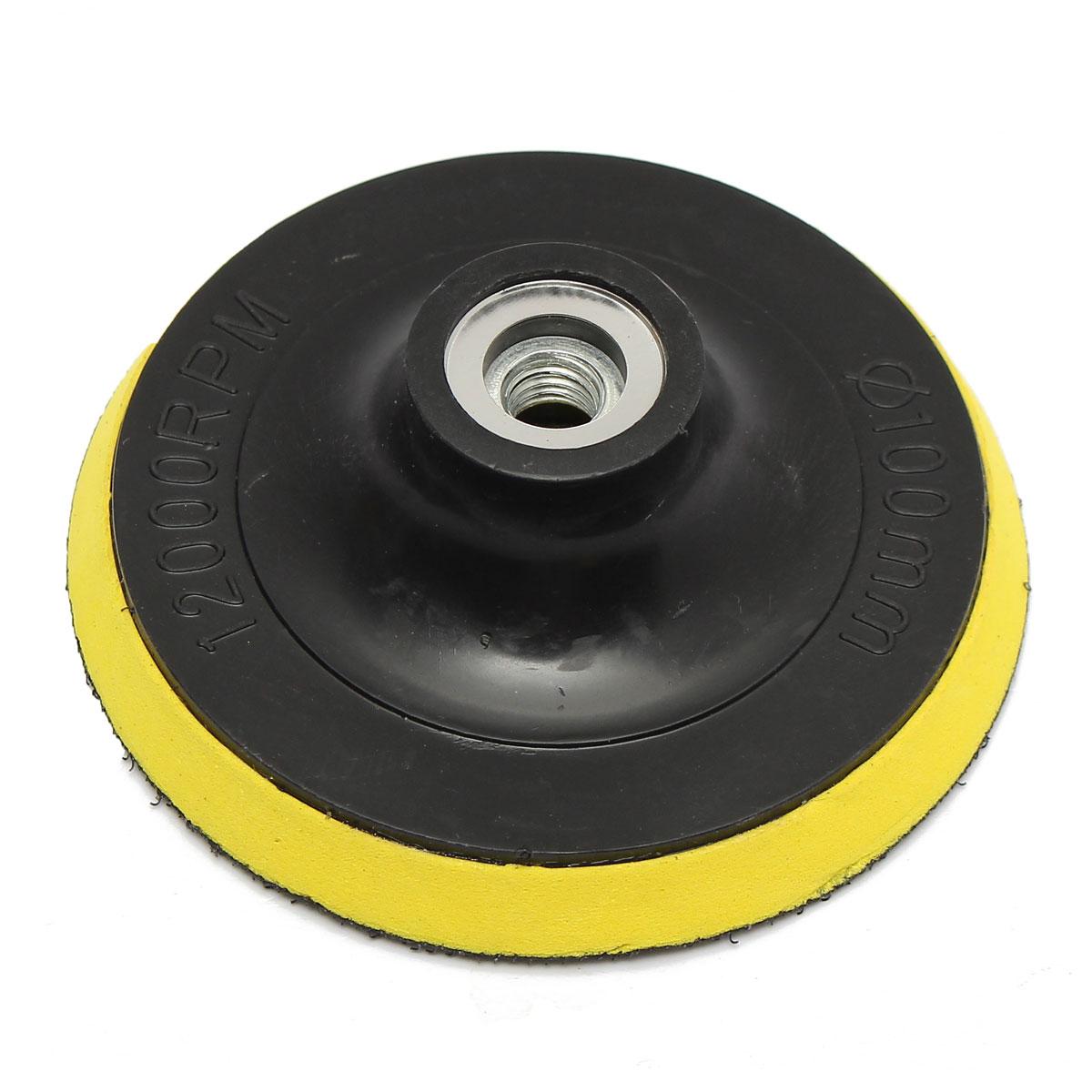 4 100mm Selfadhesive disc Brushed Polisher Bonnet Backing Pad Angle Grinder Polishing Disk Wheel Sand Paper