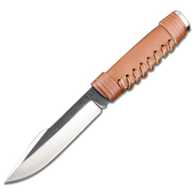 New Hunting Knife Pure Handmade High- carbon Veins Steel 60HRC High Hardness Camping Fixed Blade Knife Tool