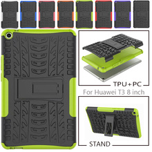 Case for Huawei T3 8 inch Honor Play Pad 2 8.0 KOB-L09 KOB-W09 Cover Heavy Duty in 1 Hybrid TPU Silicon PC Coque Capa
