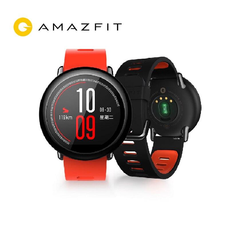 Reloj Original Xiaomi Huami AMAZFIT Pace reloj deportivo inteligente versión inglesa Bluetooth 4,0 GPS Monitor de ritmo cardíaco para Android IOS