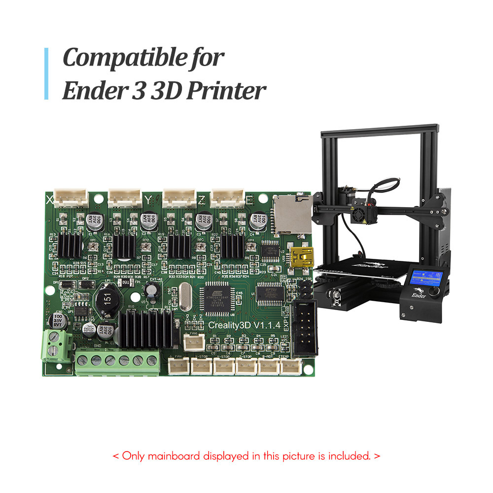 Creality 3D Printer Accessory Mainboard Motherboard Replacement Control Board 24V with USB Port Power Chip for