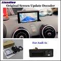 Liandlee автомобиля оригинальный экран обновление системы для Audi A1 8X 2010-2018 задний Обратный Парковка камера цифровой декодер дисплей плюс