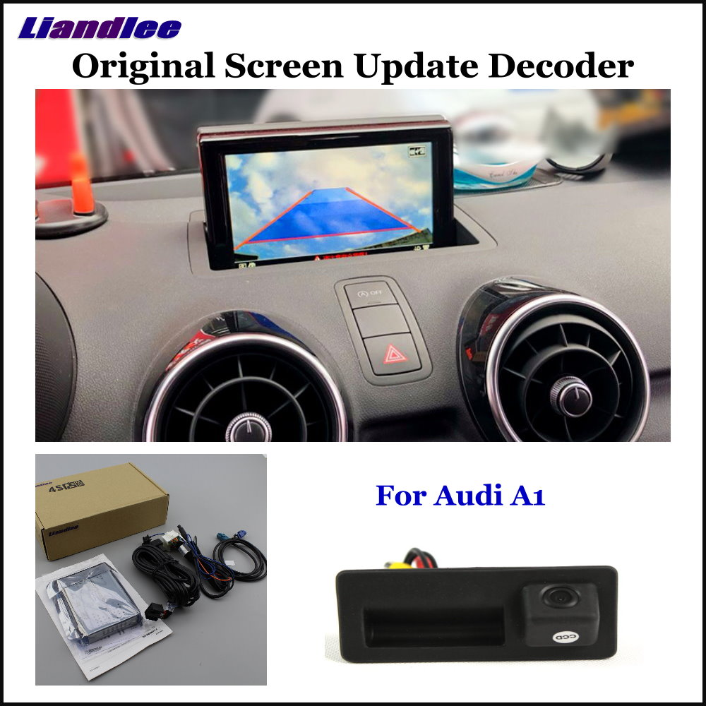 Liandlee Car Original Screen Update System For Audi A1 8X 2010 2018 Rear Reverse Parking Camera Digital Decoder Display Plus in Vehicle Camera from Automobiles Motorcycles