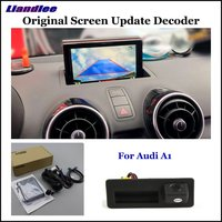 Liandlee Car Original Screen Update System For Audi A1 8X 2010 2018 Rear Reverse Parking Camera Digital Decoder Display Plus