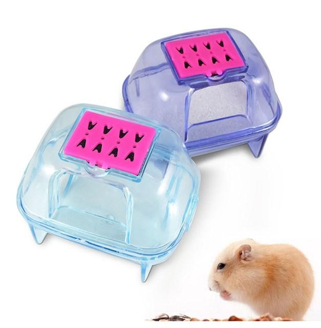 Бесплатная доставка Пластиковые pet хомяк сауна комната дезодорирующим мелких животных хомяк песок ванная комната ванная комната горшок качество