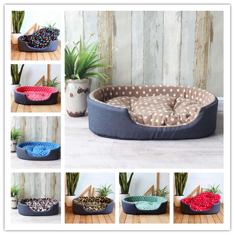 Luxury pet kennel house warm large dog bed cat cushion mat for Luxury large dog beds