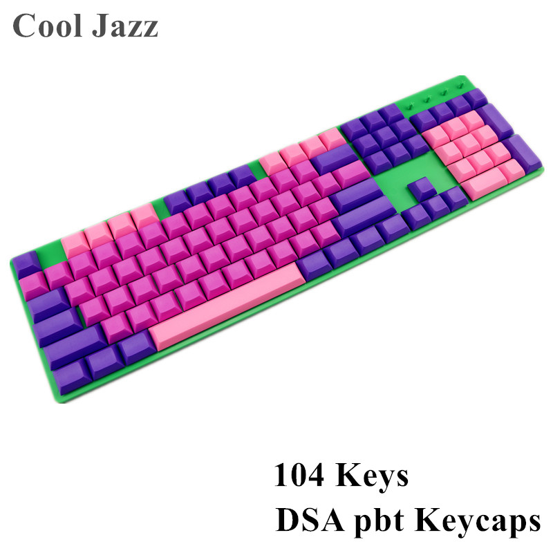 Cool Jazz DSA profiles blank Keycap 104 keys thick pbt for Mechanical Gaming Keyboard MX Switches цена