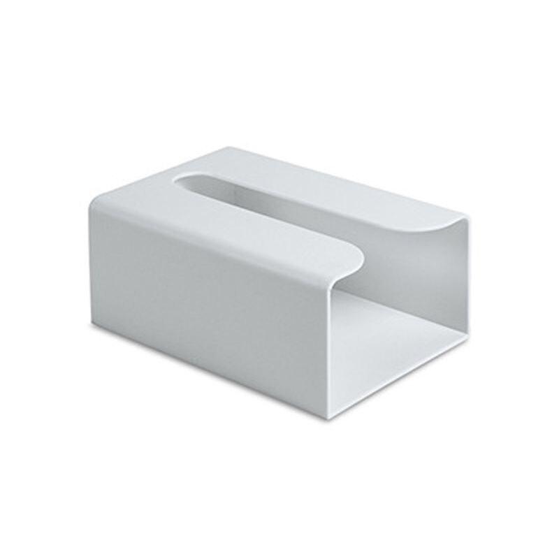 Настенная самоклеющаяся коробка для салфеток, держатель для салфеток, пластиковый мешок для мусора, Диспенсер, стеллаж для хранения, автомобильный подвесной органайзер Kicthen - Цвет: Gray