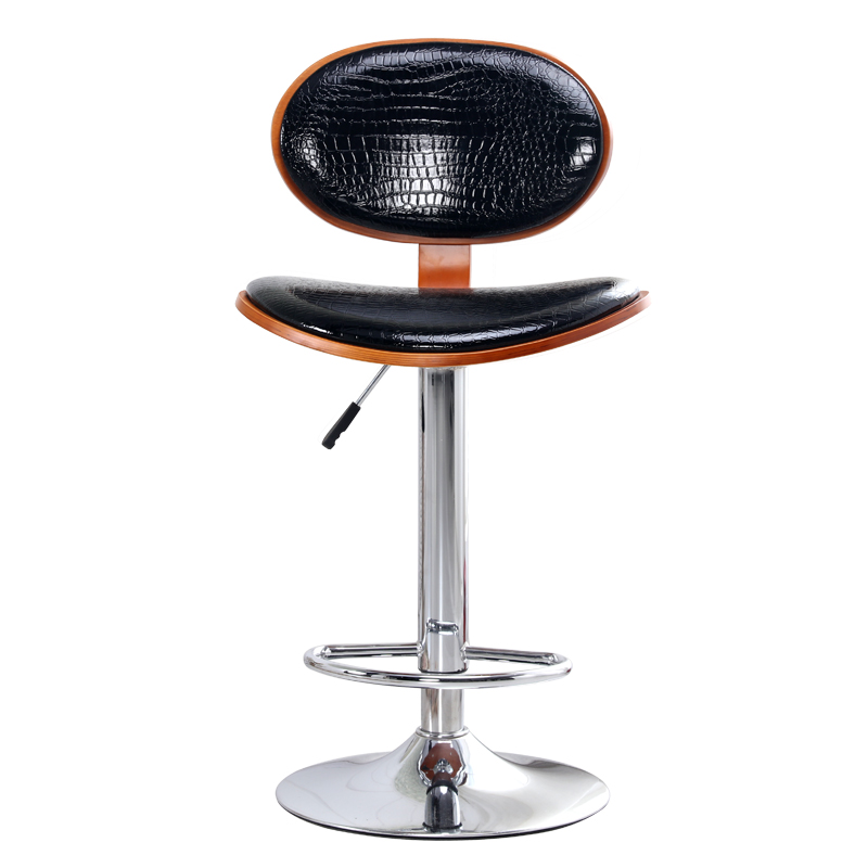 Modern Bar Chair Lift Rotating Chair Fashion Contracted Europe Type High Bar Stools continental bar chairs rotating chair lift back bar stool reception tall silver beauty makeup chair