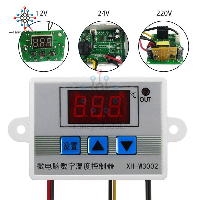 XH-<font><b>W3002</b></font> DC 12V 24V AC 110V-220V Digital LED Temperature Controller 10A Thermostat Control Switch With Probe Sensor <font><b>W3002</b></font> image