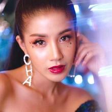 Hot Sale CHA Letter Drop Earrings Fashion Rhinestone Asymmetry for Women Jewelry Gold Silver Statement Gifts
