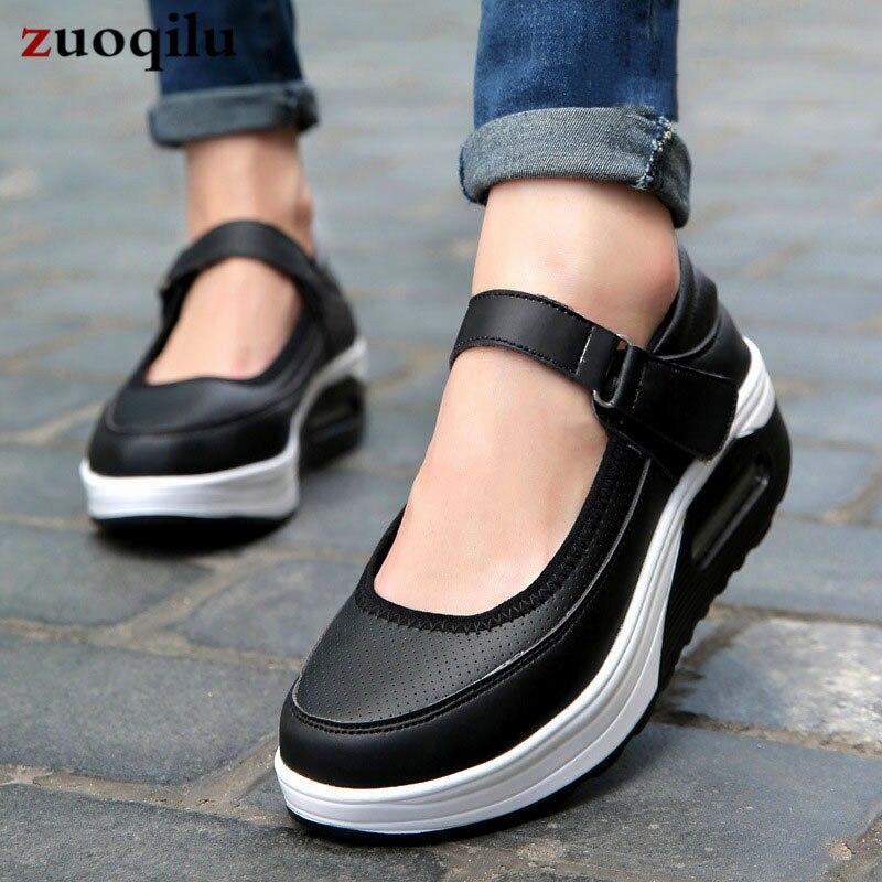 Women Casual Shoes Platform Wedge Shoes Women Walking Shoes Mesh Platform White Sneakers Comfort Ladies Shoes big size 35-42 ladies consultation coat white size 14 1 each model 88018qhw14