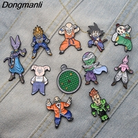 11pcs/set DMLSKY Dragon Ball Z Cartoon Characters Brooches Anime Piccolo Metal Pin Jewelry Christmas Brooch Gift M2703