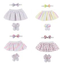 3Pcs/set Newborn Baby Girl Skirt Summer Fashion Headband Shoes Tutu for Ballet Dance Clothes Age 0-12M