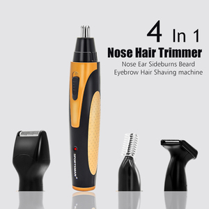 Image 3 - 4 In 1 Oplaadbare Elektrische Nose Hair Trimmer Removal Clipper Scheerapparaat Machine Baard Wenkbrauw Trimmer Voor Mannen Neus Haar Snijder