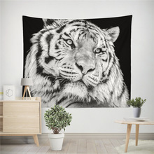Animal Beast tiger pattern wall tapestry hanging wild animal printed home decor beach towel tenture