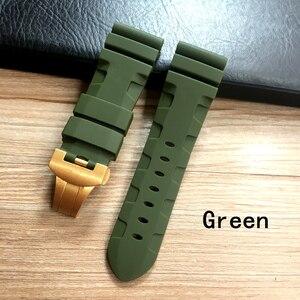 Image 2 - Whatchband Correa de silicona para reloj, correa de reloj negra, azul o naranja, roja, gris y verde de 24 y 26mm, con hebilla de mariposa y grabado