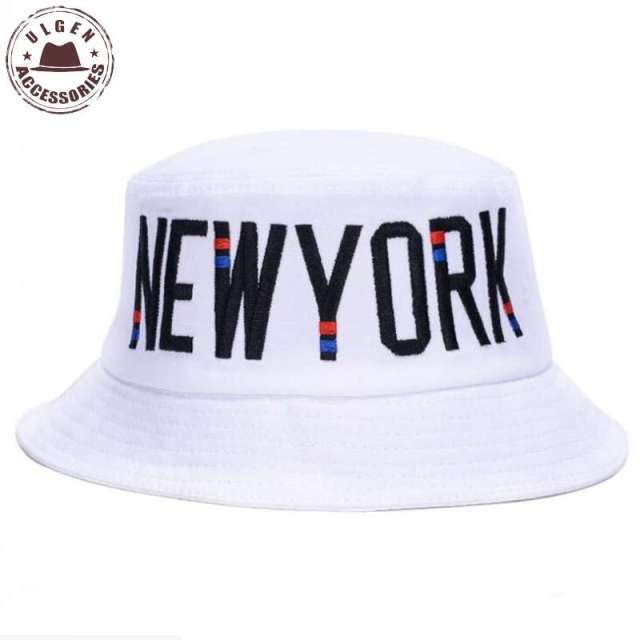 New Summer NEW YORK Embroidery Bucket Hat Women Laconic Letter Basin Sun Cap  Casual Hats For c21fe9ef0e