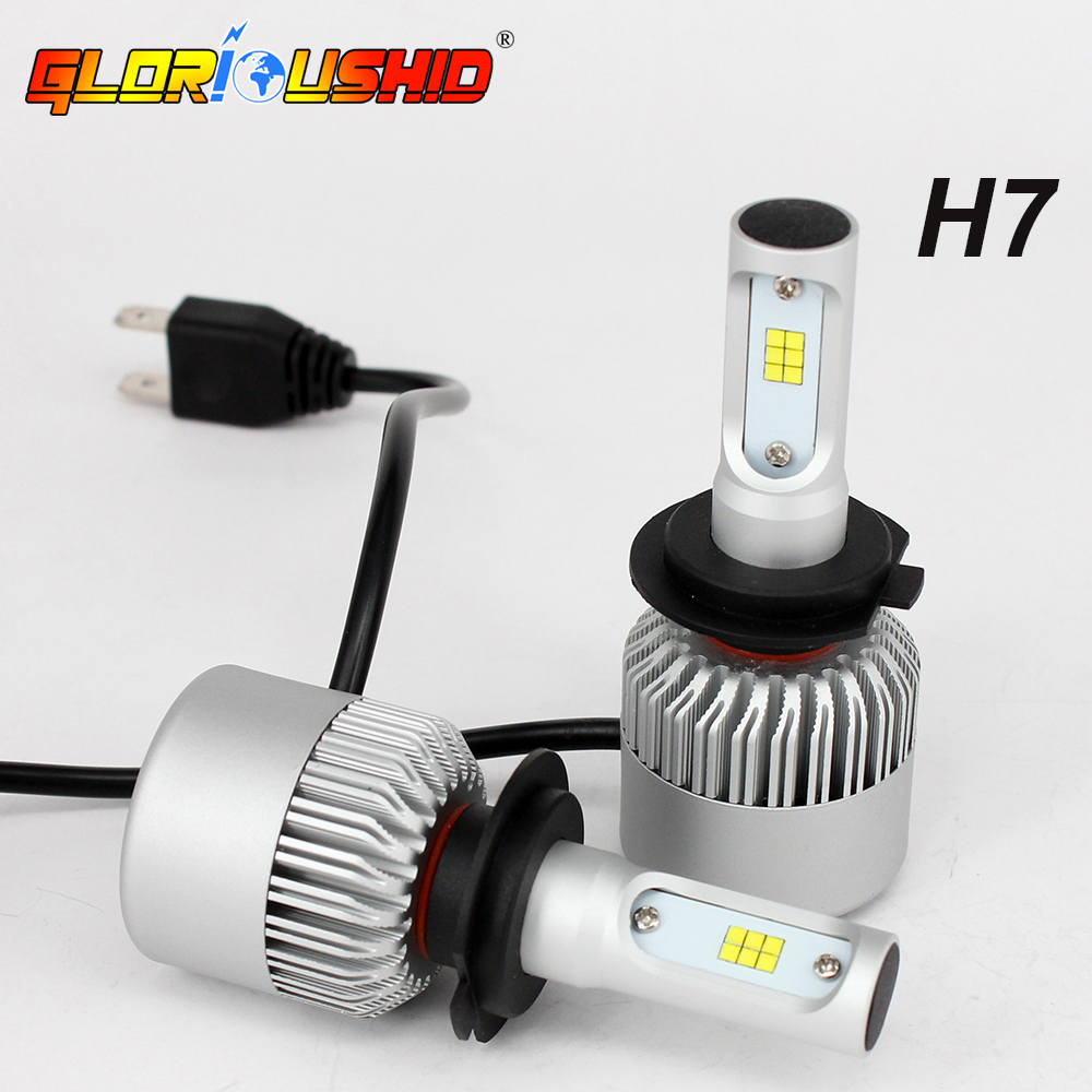 H4 LED Car Headlight Bulbs H7 72W 8000LM H1 H3 H11 H8 H9 HB3 9005 9006 6500K Chips CSP Super Bright Auto Lights Conversion kit