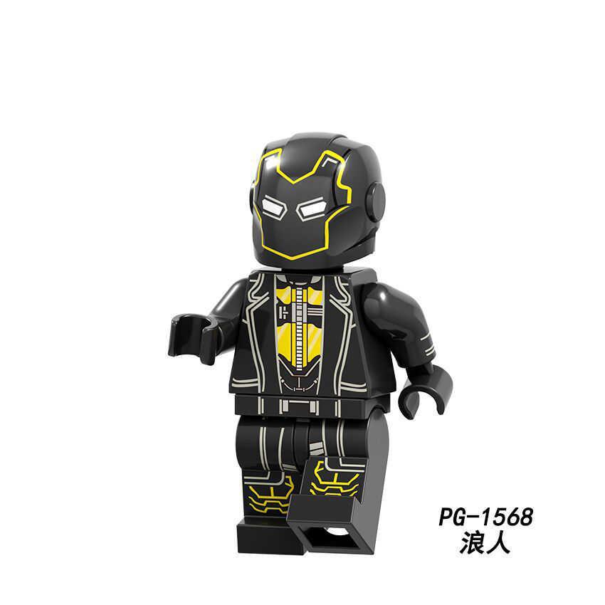 Sale Superhero Series Black Panther Ebony Throat Dolls Legoing Mini Building Blocks Action Figures Toy For