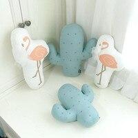 Кактус/Фламинго мягкая успокоить ребенка Подушки Детские Домашний декор комнаты малыша Спальня/диванные подушки милые Подставки для фотог...