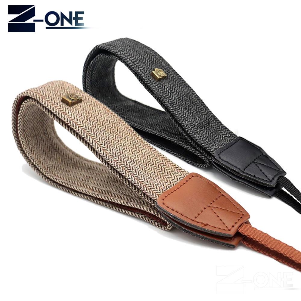 2018 New Universal Adjustable Cotton Leather Camera Shoulder Neck Strap Belt For Sony Nikon SLR Cameras Strap Accessories Part