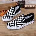 Women&Men Canvas Shoes Fashion Skate Casual Shoes Female Checkered Slip on Basket Flats Tenis SIZE  35-43