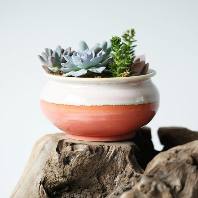 US $15.12 10% di SCONTO|Desktop Mini Vasi da Fiori In Ceramica Creativa  Giardino Fioriera Fioriera Vaso di Prezzi All\'ingrosso di Alta Qualità Non  ...