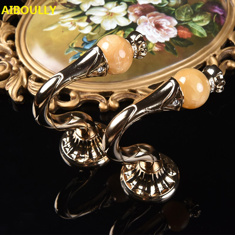 AIBOULLY 2Pcs/set Fashion Marble Curtain Buckle Holder Hanger Bronze Display Rack Wall Hook Curtain Accessories