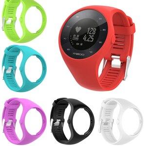 Image 1 - Nützliche Premium Silikon Weiche Band Uhr Handgelenk Gurt Für Polar M200 GPS Uhr Ersatz