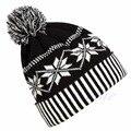 Женщины Мужчины Мода Вязания Крючком Зимний Горнолыжный Теплый Hat Cap Снежинка Шапочка