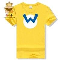 Super Mario Bros T Shirts Mario Wario Luigi Icon T Shirt Cute Game Fans Daily Wear