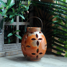 Big Hollow Ceramic Candle Holders Jars Vintage Home Decor Wedding Centerpieces Container Porta Velaslantern 50258