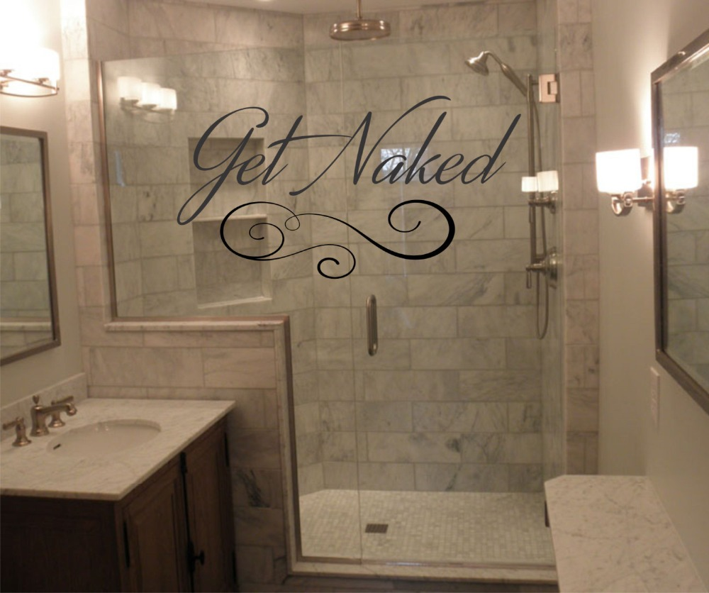 Bathroom Wall Decal Get Naked Quotes Vinyl Wall Sticker Art Mural Interior  Waterproof Home Decor Fashion Design Stickers SYY948 In Wall Stickers From  Home ...