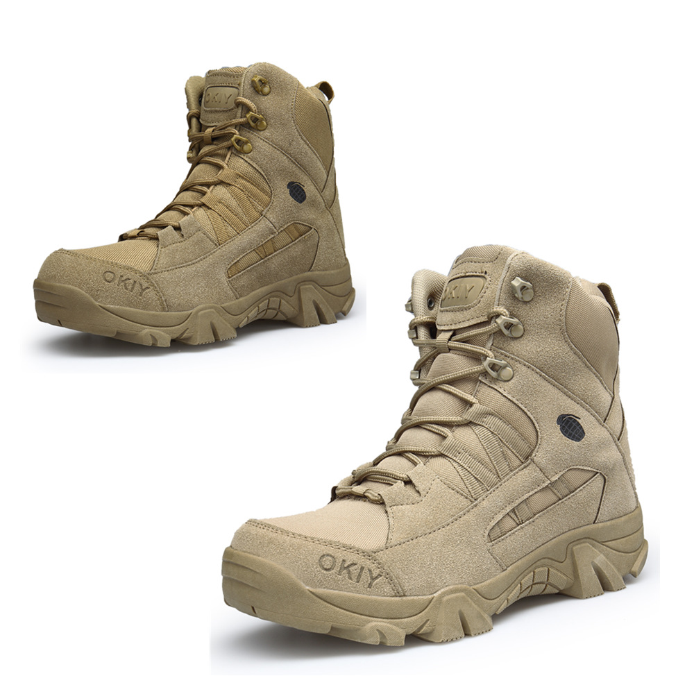 Men Desert Tactical Military Boots Mens Work Safty Shoes Army Boot Militares Tacticos Za ...