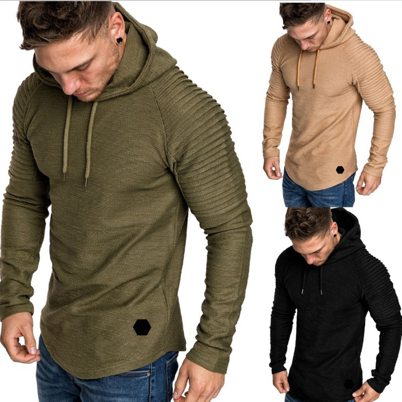 2018 Autumn New Fashion Mens Hoodies Brand Men Solid Color Hooded Sling Sweatshirt Mens Hoodie Hip Hop Hoodie 5XL