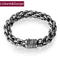 925 Sterling Silver Friendship Bracelet Men Jewelry 12mm Wide Creative Bangle Bracelet Women Gift Fine Jewelry 2017 B20